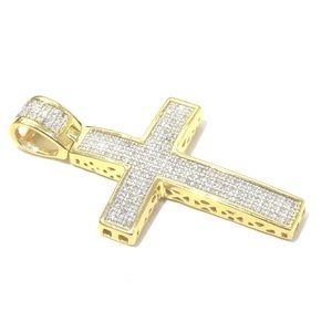 Other - 925 Silver 0.50ct Diamond Religious across Pendant